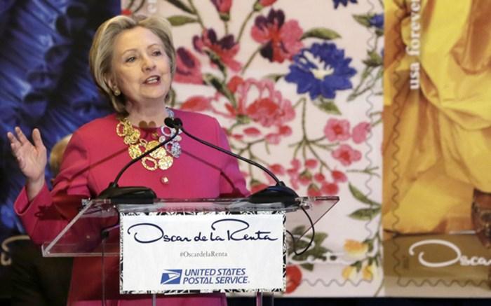 Hillary Clinton Oscar de la Renta Stamp
