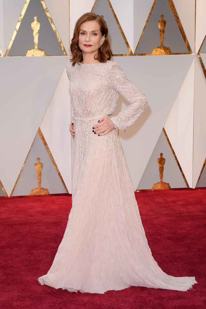 Isabelle Huppert Oscars 2017 Red Carpet