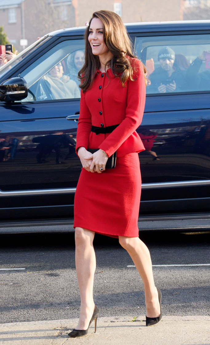 Kate Middleton Luisa Spagnoli Suit Gianvito Rossi Pumps