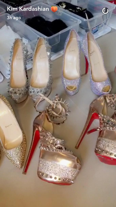 kim kardashian shoe archive christian louboutins