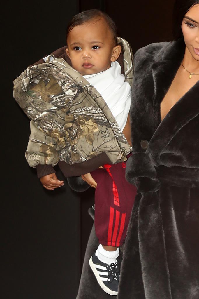 Kim Kardashian West Saint North Style