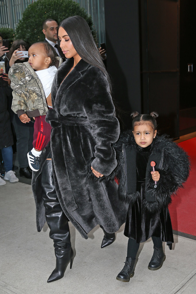 Kim Kardashian West Saint North Style