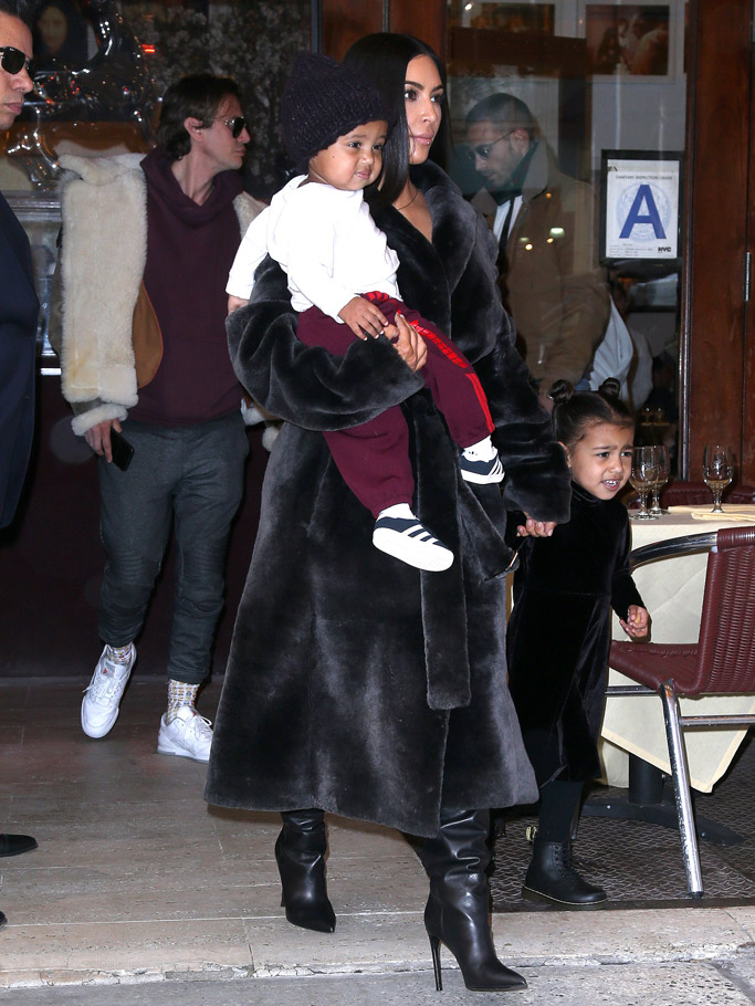 kim kardashian west north saint fur