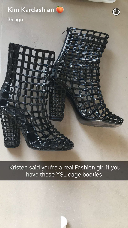 kim kardashian shoe archive ysl boots
