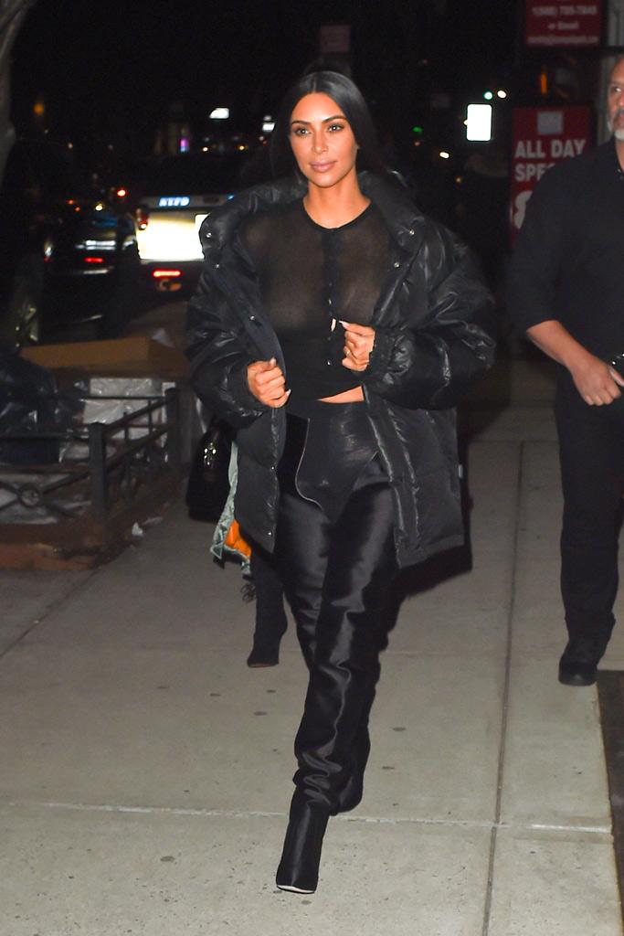 Kim Kardashian West Manolo Blahnik Vetements