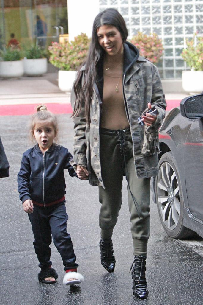 Kourtney Kardashian Penelope Disick Style