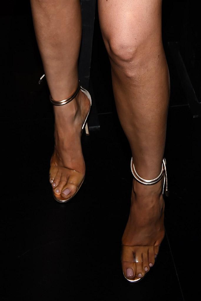 kylie jenner nyfw jeremy scott front row sandals