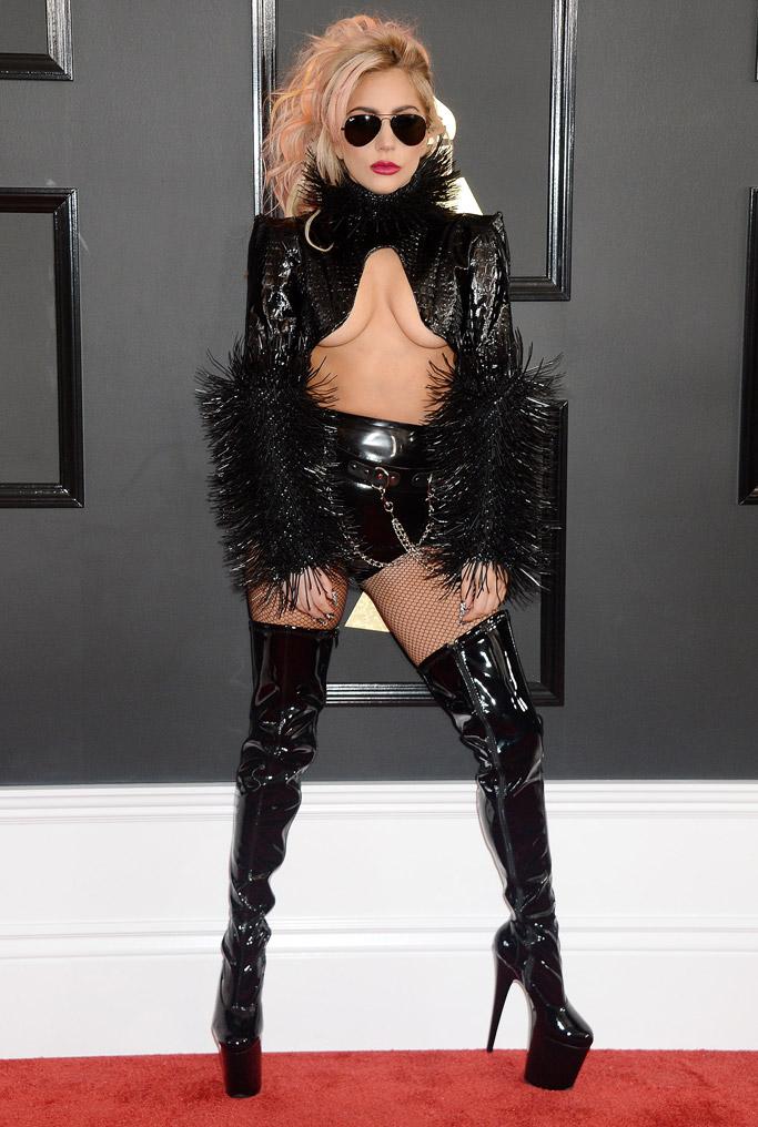 Lady Gaga 2017 Grammys Red Carpet