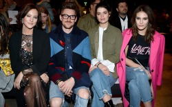 Celebrities in the Front Row at