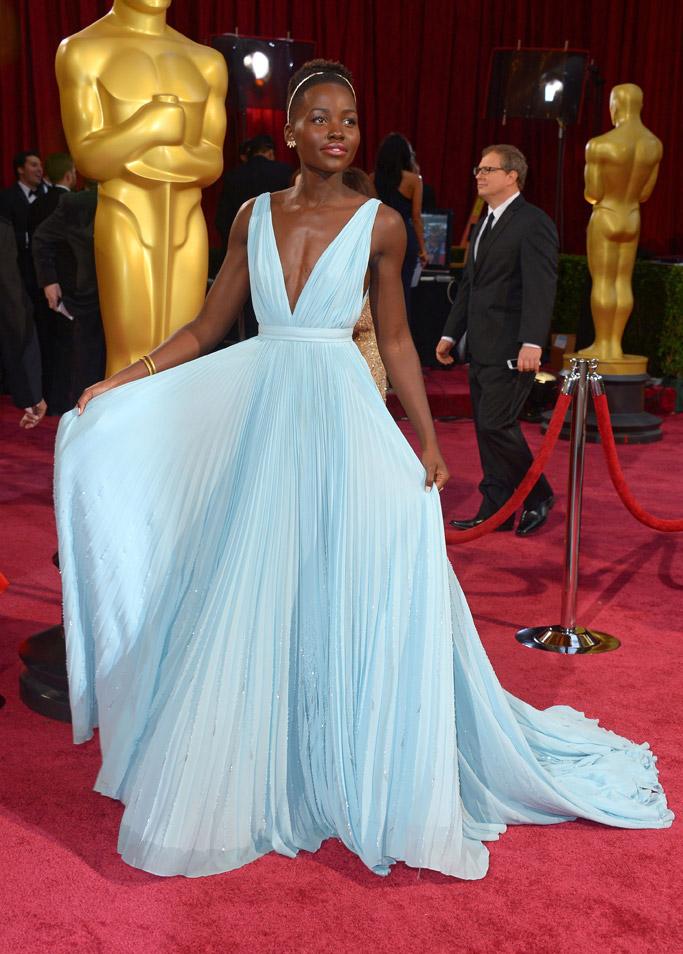 Lupita Nyong'o oscars 2014 prada dress