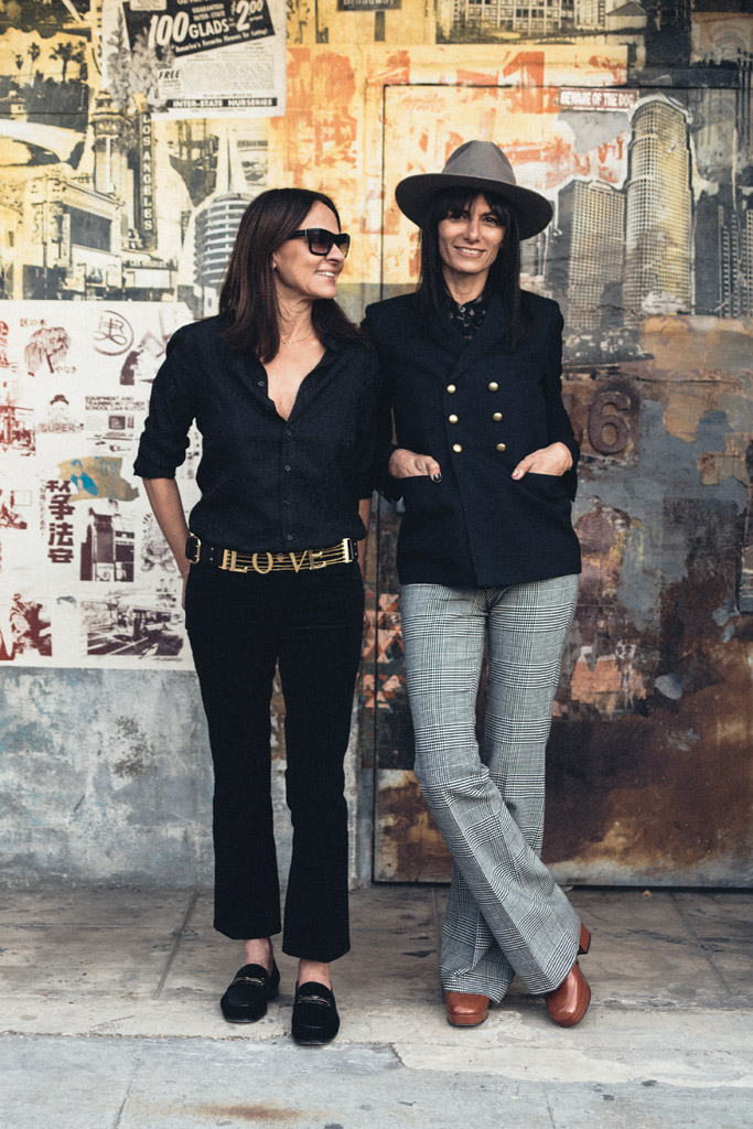 Marjan and Maryam Malakpour outside Newbark's Hollywood office.