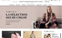 MatchesFashion.com French homepage.