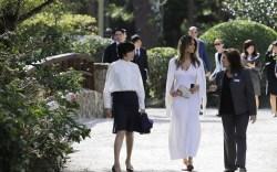 Melania Trump's Japanese Garden Tour Look