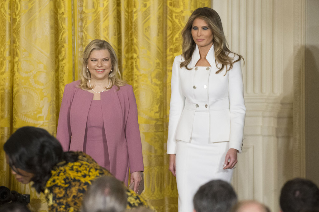 melania trump nude pumps white house