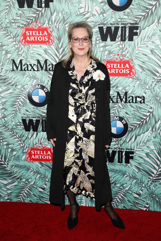 meryl streep 2017 oscar women in film party red carpet