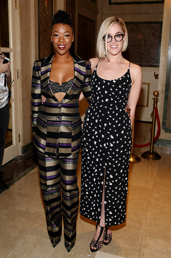 Samira Wiley and Lauren Morelli New York Fashion Week Front Row Celebrities