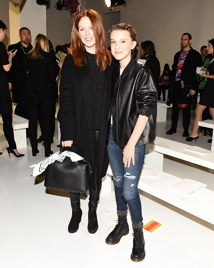 Julianne Moore and Millie Bobby Brown New York Fashion Week Front Row Celebrities