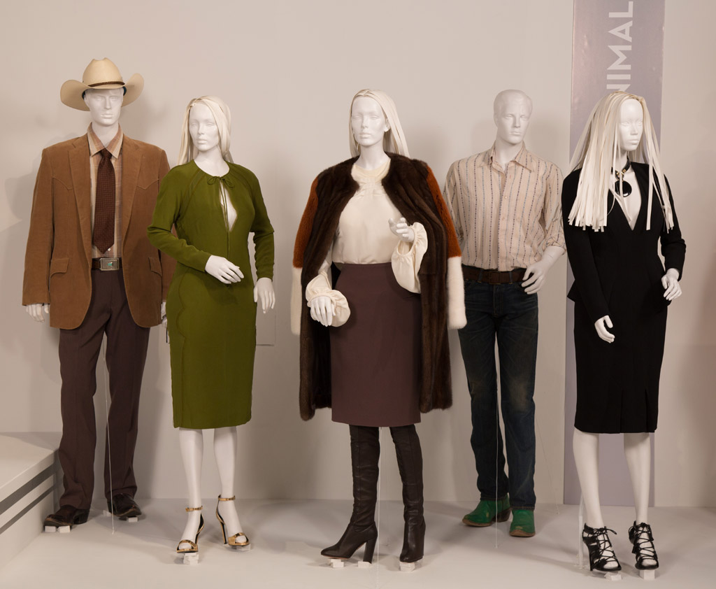 """""""Nocturnal Animals"""" costumes at FIDM Museum's 25th annual Art of Motion Picture Costume Design exhibition in Los Angeles, open to the public through April 22."""