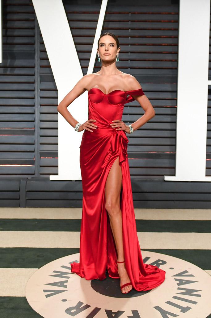 Alessandra Ambrosio Oscars Vanity Fair Party 2017