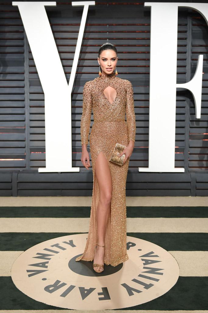 Adriana Lima Oscars Vanity Fair Party 2017