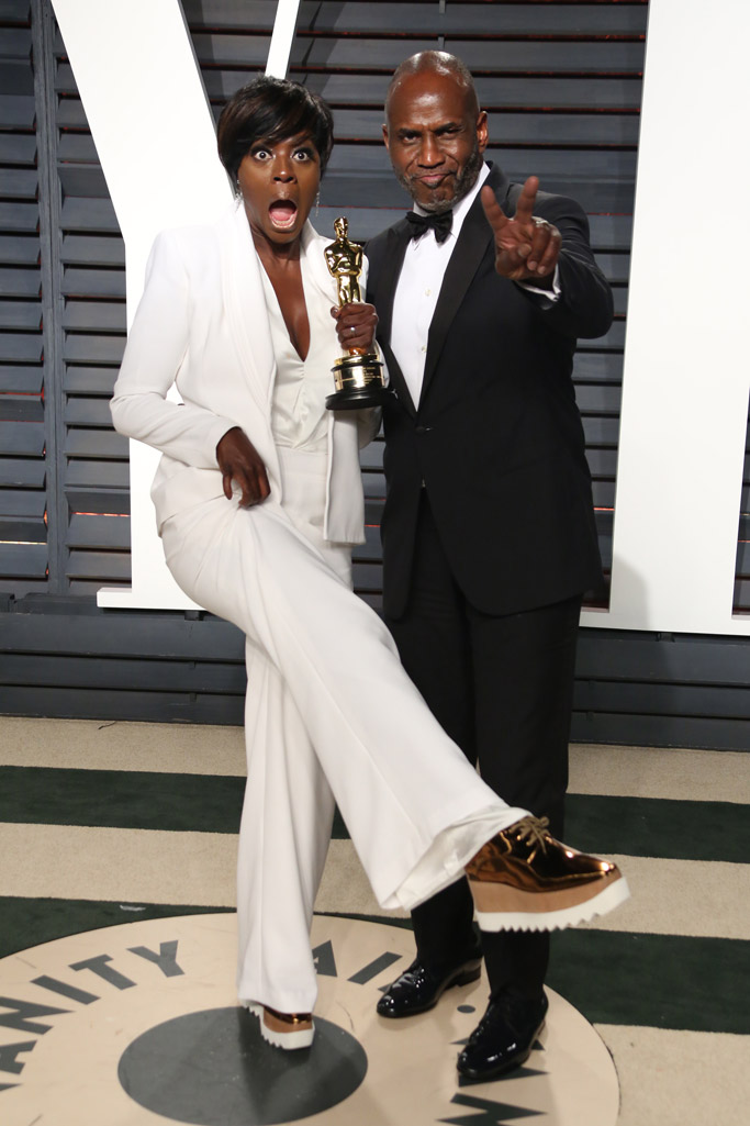 Viola Davis Oscars Vanity Fair Party 2017
