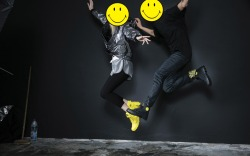 Palladium smiley face boots fanny pack