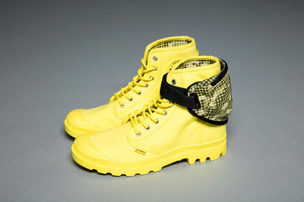 Palladium smiley face boots fanny pack festival survival kit