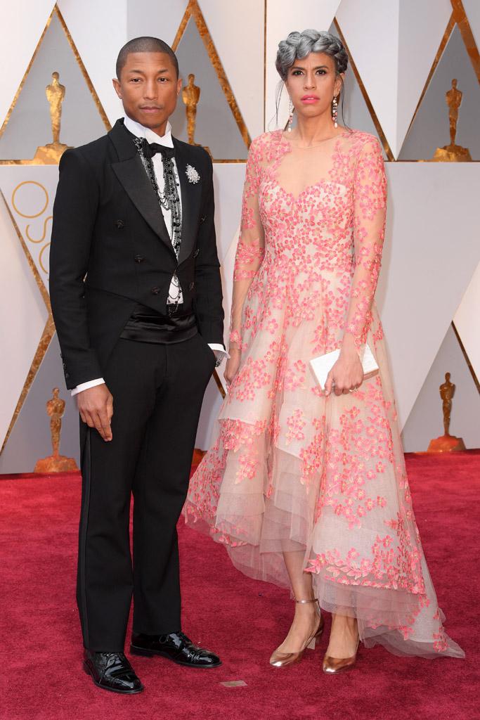 Pharrell Williams Helen Lasichanh Oscars 2017 Red Carpet