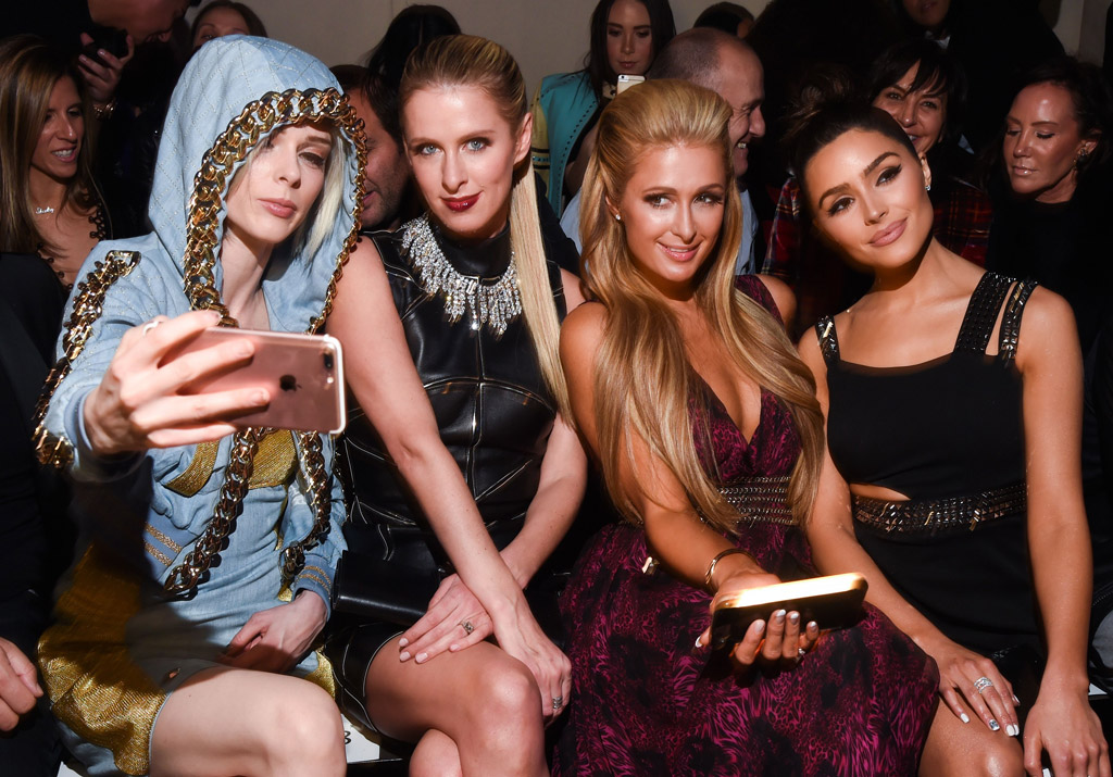 fall 2017 nyfw front row philipp plein paris hilton nicky