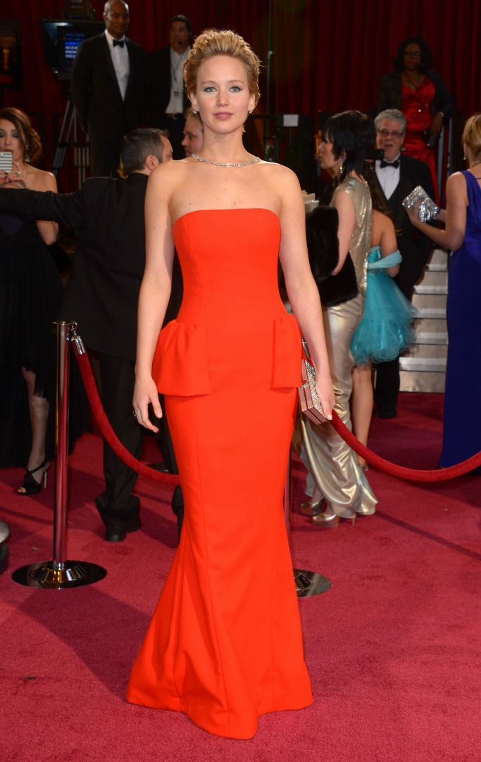 Jennifer Lawrence wearing Dior Couture at the 2014 Oscars.