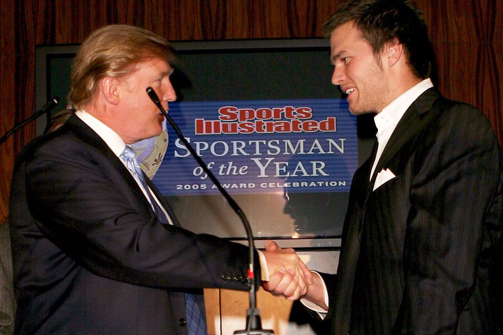Donald Trump and Tom Brady