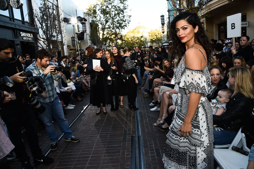 Camila Alves in the front row Rebecca Minkoff show.