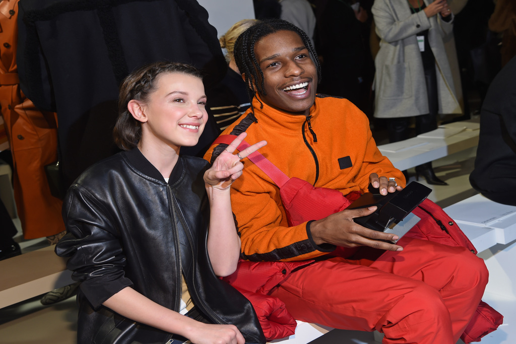 Celebrities in the Front Row millie bobby brown