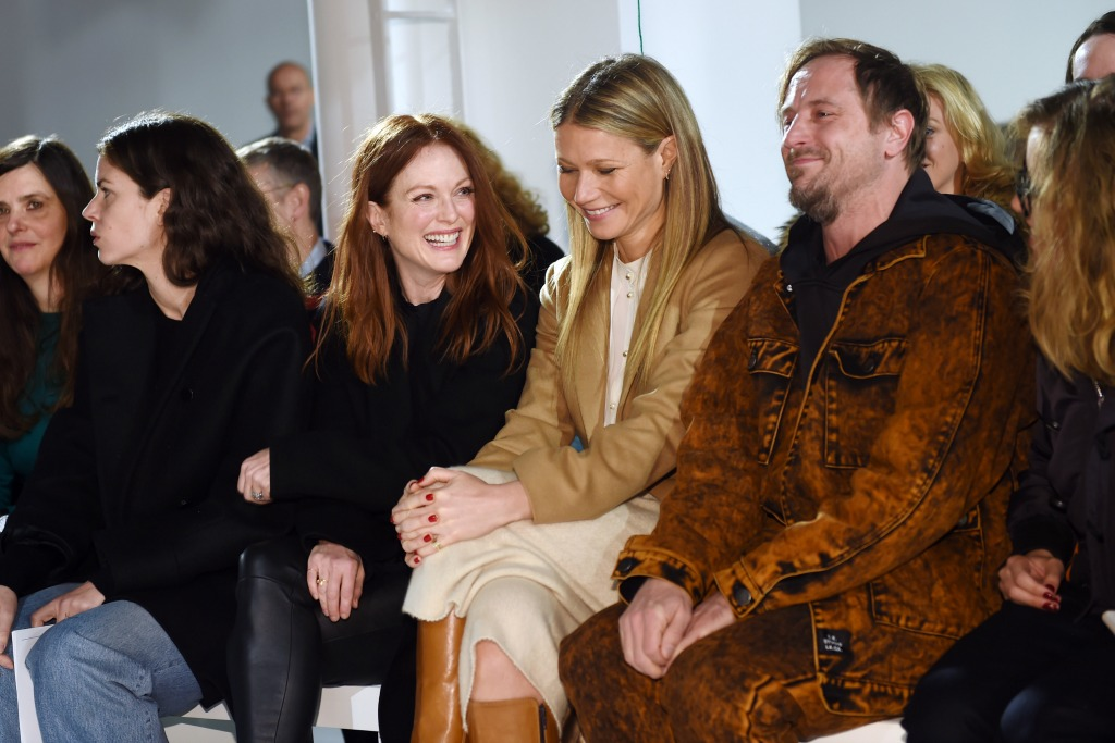 Julianne Moore and Gwyneth Paltrow in the front row at Calvin Klein.