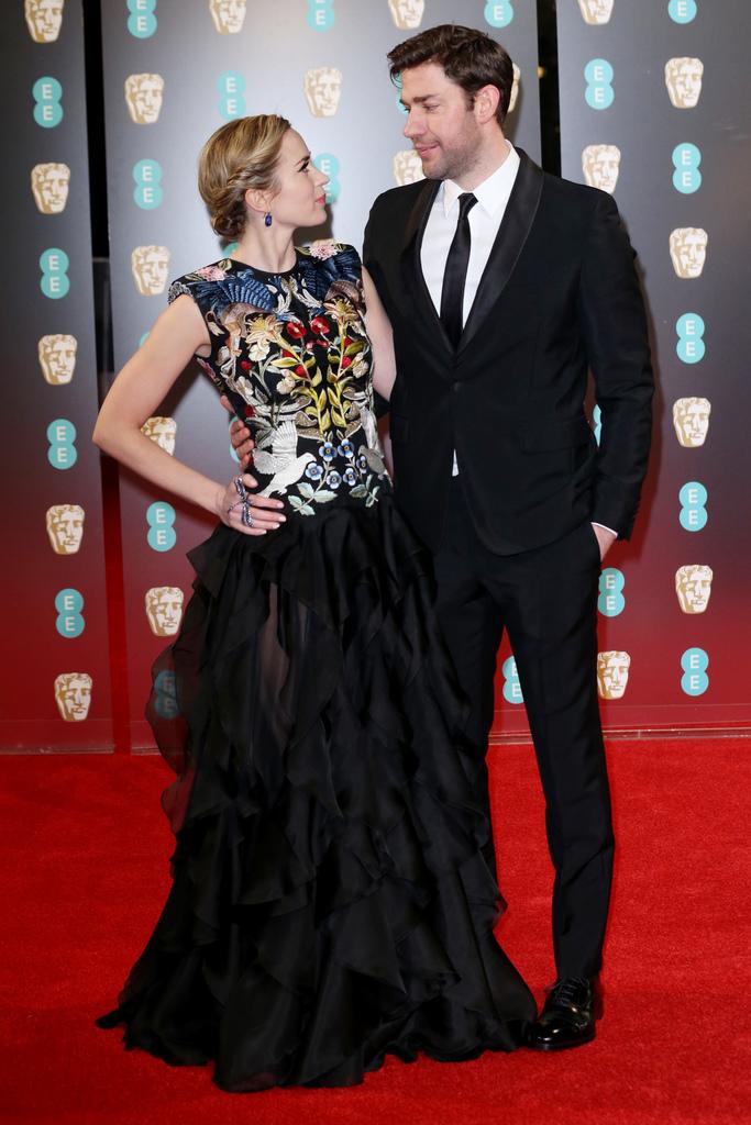 BAFTA Red Carpet Emily Blunt John Krasinski
