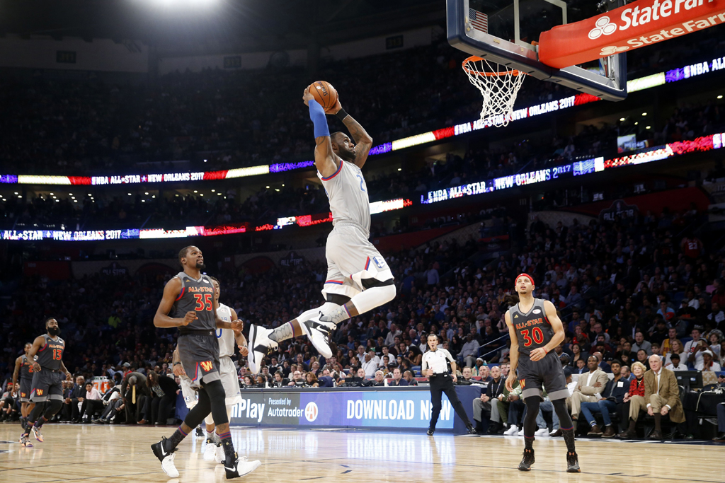 LeBron James wears the Nike LeBron 14 during the 2017 NBA All-Star Game.