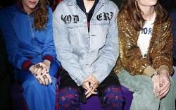 Front Row at Gucci Fall '17