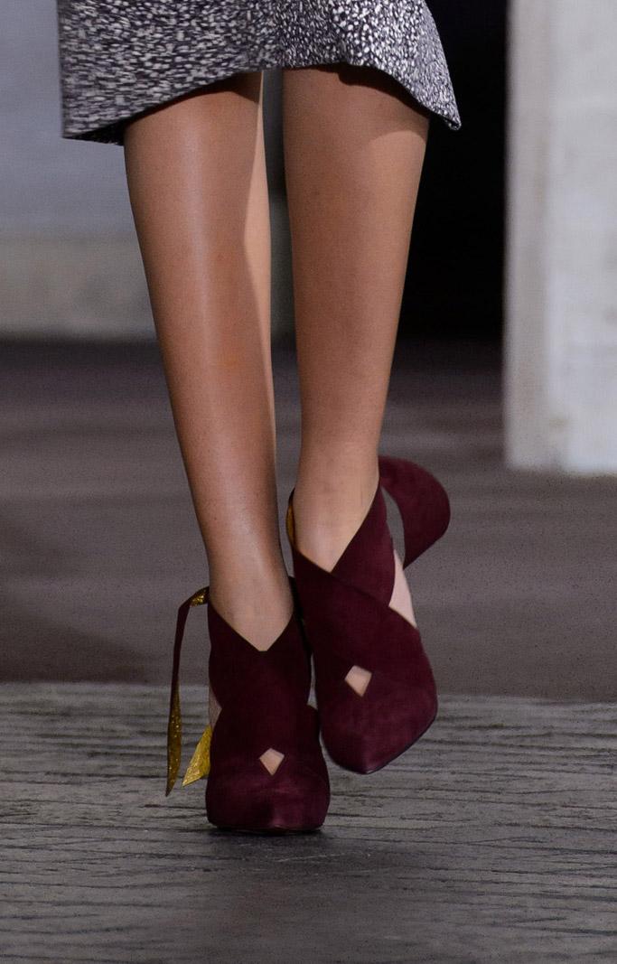 Roland Mouret christian louboutin shoes london fashion week