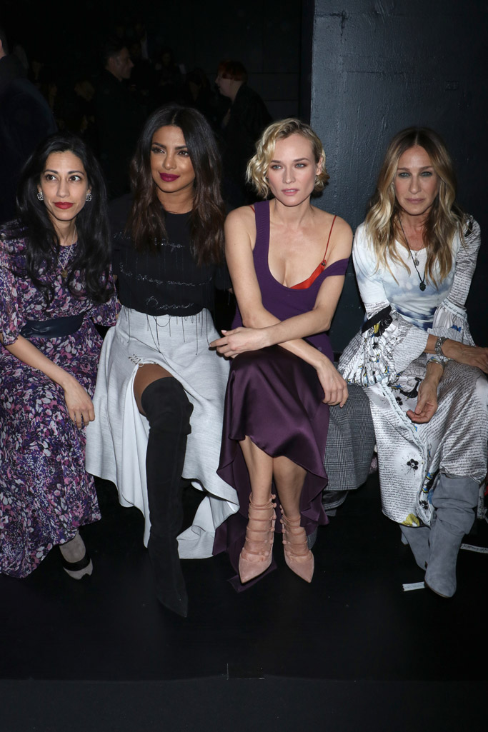 Huma Abedin Priyanka Chopra Diane Kruger Sarah Jessica Parker new york fashion week front row