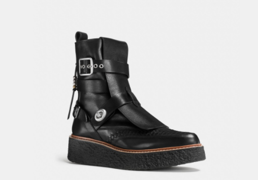 Coach leather high top whipstitch creepers