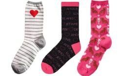 Valentine's Day socks