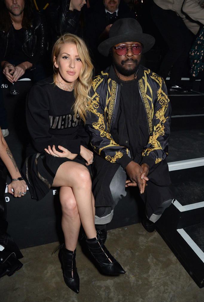 versus ready to wear fall 2017 front row London fashion week ellie goulding william