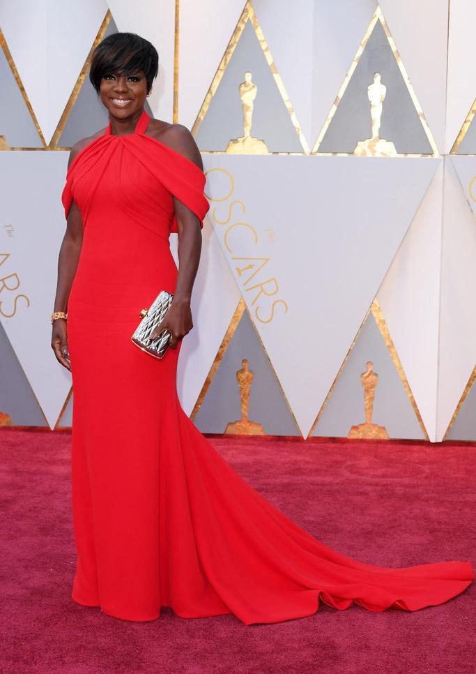 Viola Davis Oscars 2017 Red Carpet