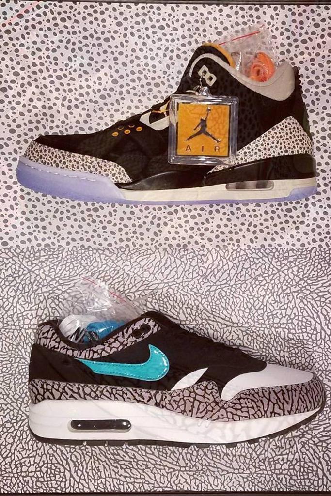 Air Jordan 3 and Nike Air Max 1