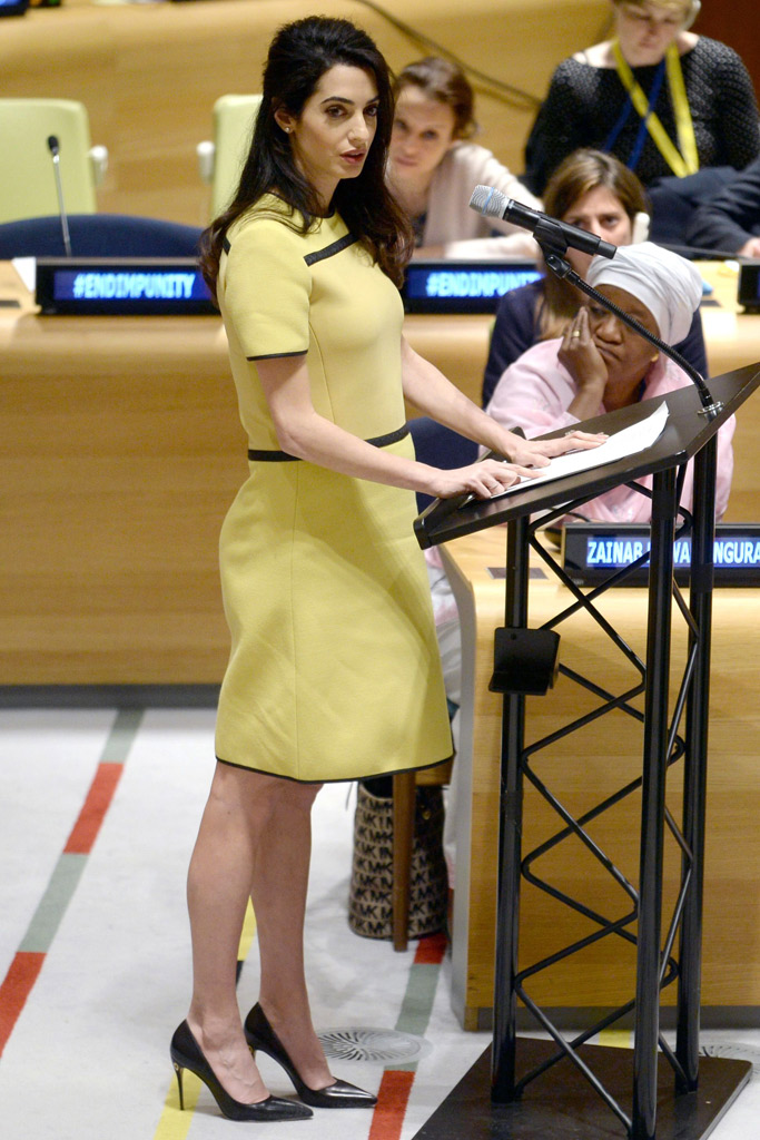 Amal Clooney Shoe Style Jennifer Chamandi Pumps