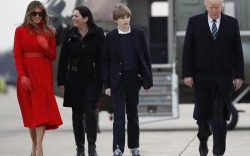 Barron Trump 2017: Mar-a-Lago Weekend Sneakers