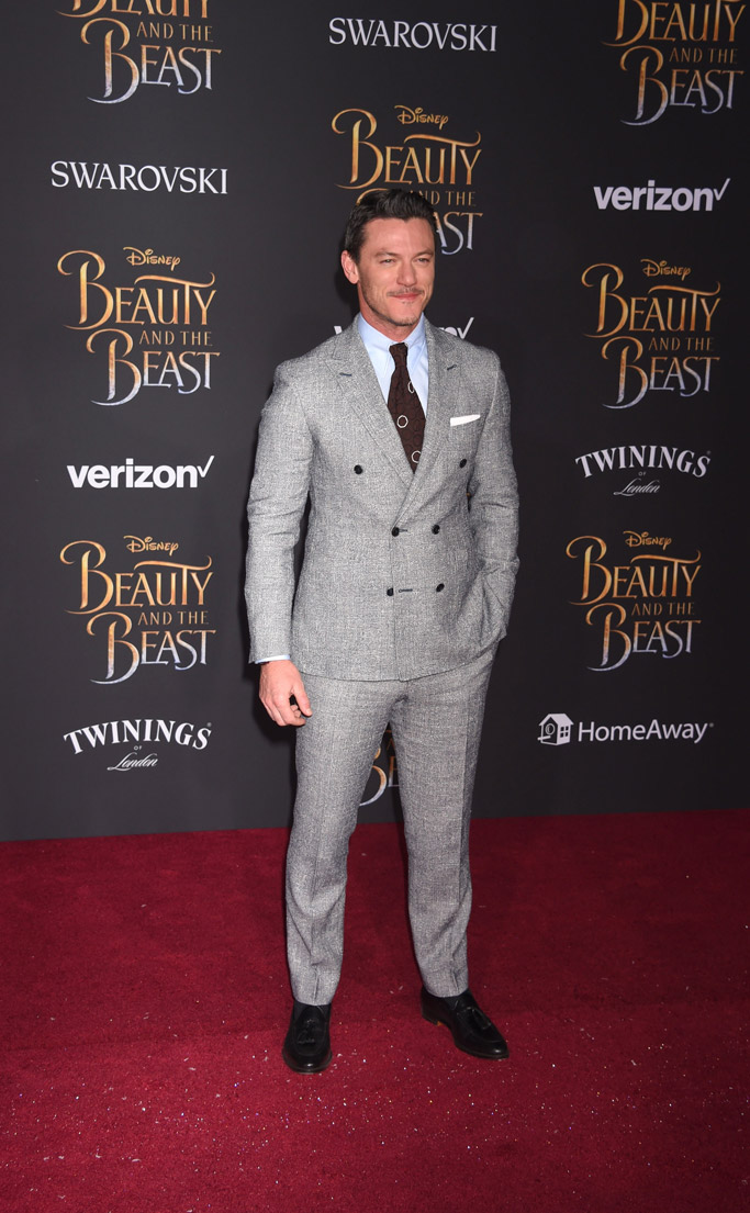 luke evans beauty and the beast movie premiere red carpet