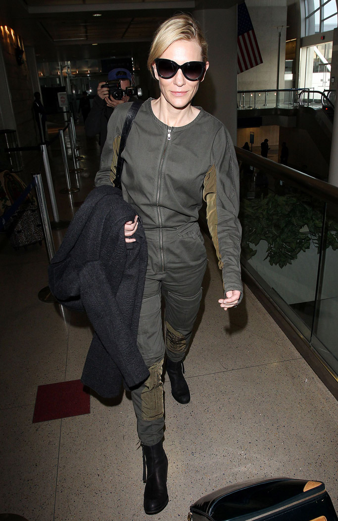 Cate Blanchett rick owens Onsie acne boots