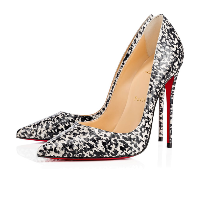 christian louboutin so kate watersnake chine pumps