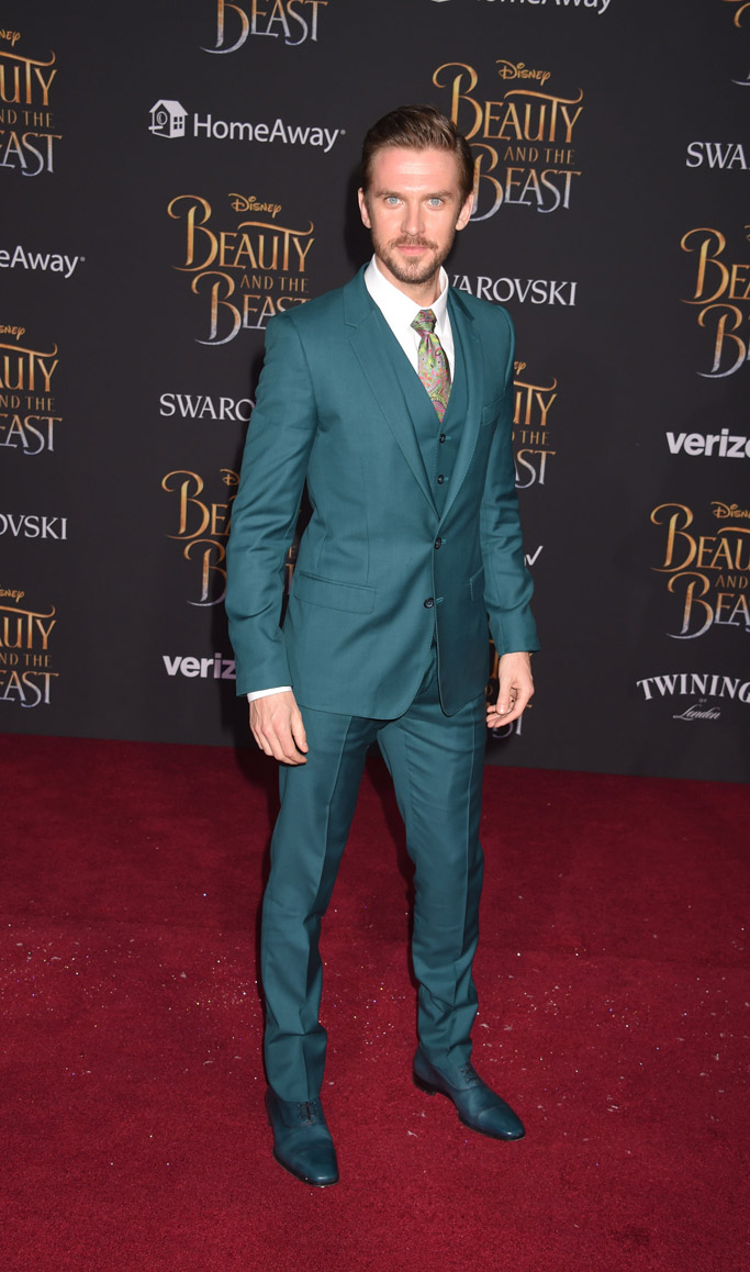 dan stevens beauty and the beast movie premiere red carpet
